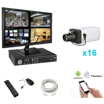 Pack vidéo surveillance 16...