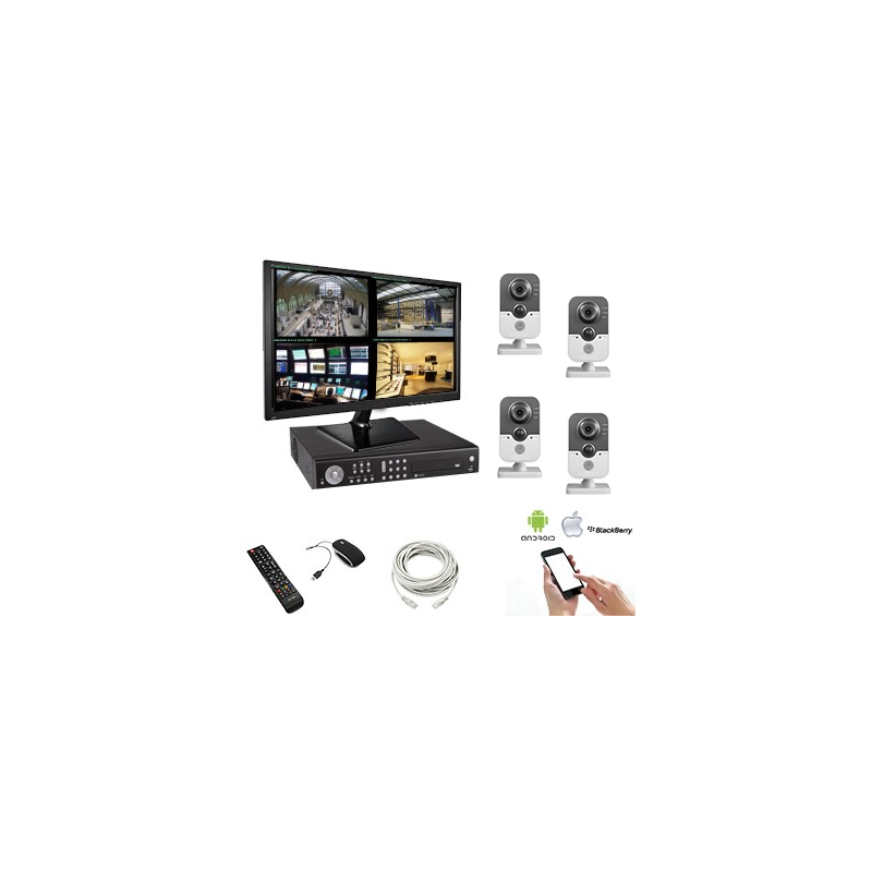kit vid osurveillance sans fil cam ra cube 1 3mp. Black Bedroom Furniture Sets. Home Design Ideas